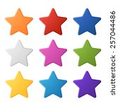 set of simple colorful stars ... | Shutterstock .eps vector #257044486