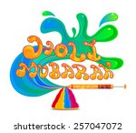 traditional holi background of... | Shutterstock .eps vector #257047072