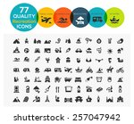 high quality recreation icons... | Shutterstock .eps vector #257047942