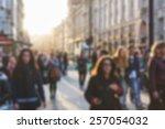 Crowded Street In London ...