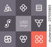 vector abstract logotypes.... | Shutterstock .eps vector #257055805