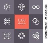 vector abstract logotypes.... | Shutterstock .eps vector #257055808