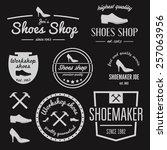 set of vintage logo  badge ... | Shutterstock .eps vector #257063956