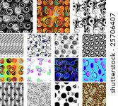 golden collection of seamless... | Shutterstock .eps vector #25706407