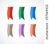 vector set colorful bookmarks...