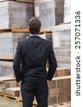 warehouse manager in suit... | Shutterstock . vector #257071336
