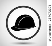 safety hard hat vector icon  ... | Shutterstock .eps vector #257073376
