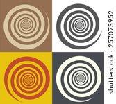 Circular Spiral. Symbol Of The...