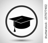 graduation cap vector icon  ... | Shutterstock .eps vector #257077402