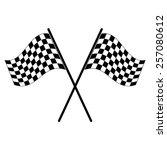 racing flag vector icon   black ... | Shutterstock .eps vector #257080612