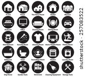rooms icon set