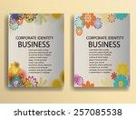 floral vector  brochure   cover ... | Shutterstock .eps vector #257085538
