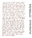 Hand Writing Letter   Latin...