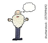 cartoon bearded old man with... | Shutterstock .eps vector #257099692