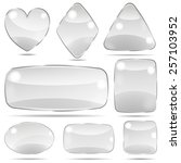 set of opaque glass shapes in... | Shutterstock .eps vector #257103952