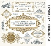 vector vintage collection ... | Shutterstock .eps vector #257108266