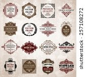 vector vintage collection ... | Shutterstock .eps vector #257108272