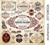 vector vintage collection ... | Shutterstock .eps vector #257108326