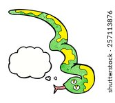 cartoon hissing snake with... | Shutterstock .eps vector #257113876
