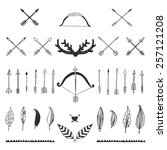 hand drawn tribal collection... | Shutterstock .eps vector #257121208