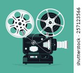 cool retro movie projector... | Shutterstock .eps vector #257123566