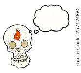cartoon mystic skull with...   Shutterstock .eps vector #257124862