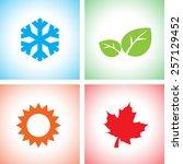 season icon set | Shutterstock .eps vector #257129452