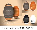 elegant brown business card set | Shutterstock .eps vector #257130526