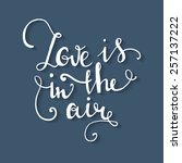 love is in the air hand drawn... | Shutterstock .eps vector #257137222