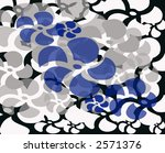 Funky blue black and grey hawaiian theme background design - stock photo