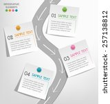 infographic elements paper note ... | Shutterstock .eps vector #257138812