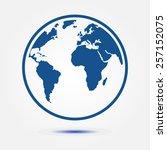 globe icon.   Shutterstock .eps vector #257152075