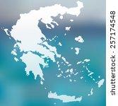 map of greece | Shutterstock .eps vector #257174548