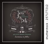 save the date calligraphy | Shutterstock .eps vector #257177212