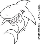 great white shark happy silly... | Shutterstock .eps vector #257177308