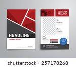 vector brochure  flyer ... | Shutterstock .eps vector #257178268