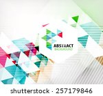 geometric abstract polygonal... | Shutterstock . vector #257179846