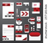 vector brochure  flyer ... | Shutterstock .eps vector #257181466