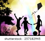 childhood | Shutterstock .eps vector #257182945