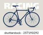 racing bicycle high detailed... | Shutterstock .eps vector #257193292