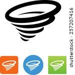 tornado icon | Shutterstock .eps vector #257207416