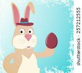 illustration of rabbit with... | Shutterstock .eps vector #257212555