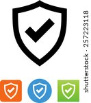 shield with checkmark icon | Shutterstock .eps vector #257223118