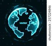 technology image of globe. the... | Shutterstock .eps vector #257224846