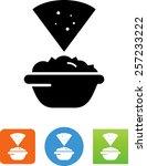 tortilla chip and guacamole icon | Shutterstock .eps vector #257233222