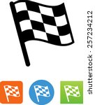checkered flag   race icon | Shutterstock .eps vector #257234212
