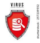 computer virus design  vector... | Shutterstock .eps vector #257239552