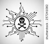 computer virus design  vector... | Shutterstock .eps vector #257241082