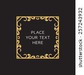 vector frame. geometric line... | Shutterstock .eps vector #257243932