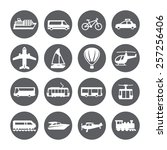 transportation icon set.... | Shutterstock .eps vector #257256406